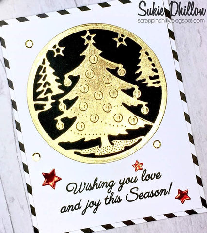 CUT IN CUT OUT CHRISTMAS TREE DIE SET - Gina Marie Designs