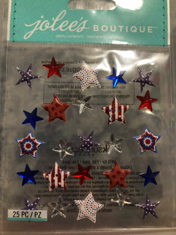 PATRIOTIC STARS - Jolee's Boutique Stickers