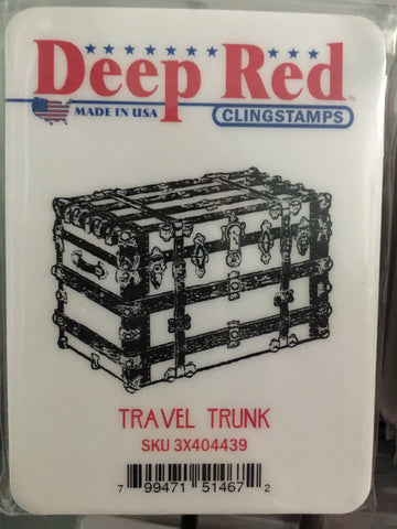 TRAVEL TRUNK - DEEP RED RUBBER STAMPS