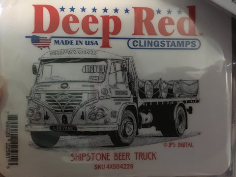SHIPSTONE BEER TRUCK DEEP RED RUBBER STAMPS