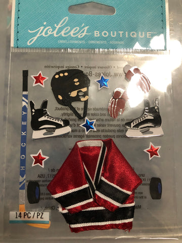 HOCKEY UNIFORM - Jolee's Boutique Stickers
