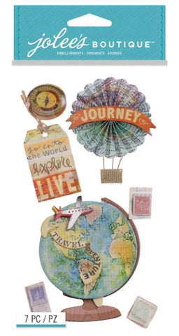 MAP MEDALLIONS - Jolee's Boutique Stickers