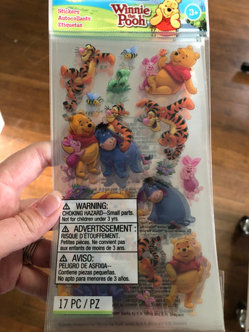 Winnie the Pooh and friends - sticko style stickers
