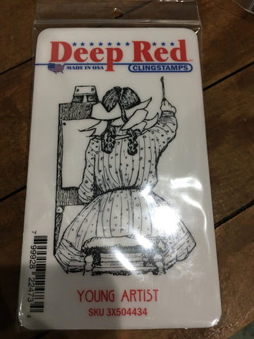 YOUNG ARTIST - DEEP RED RUBBER STAMPS