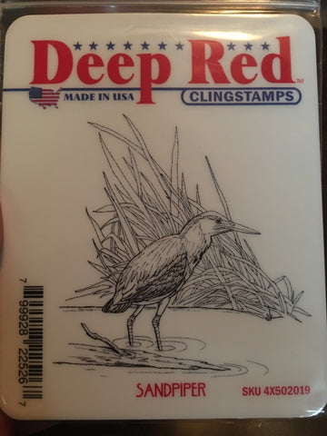 SANDPIPER - DEEP RED RUBBER STAMPS