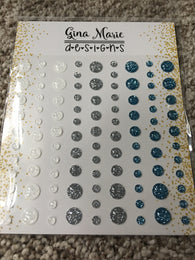 WINTER SPARKLE GLITTER STYLE ENAMEL DOTS - Gina Marie Designs