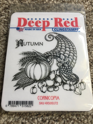 CORNICOPIA - DEEP RED RUBBER STAMPS