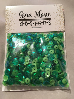 GRASSHOPPER GREEN SEQUIN MIX - Gina Marie Designs