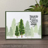 LAYERED PINE TREE STAMP SET - Gina Marie Designs *see description for small memo