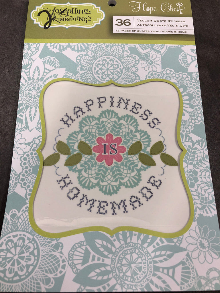 Vellum quote stickers hope chest josephine kimberling scrapbook outlet gina marie designs