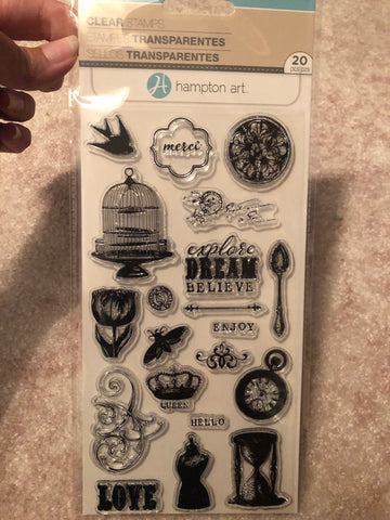 VINTAGE VICTORIAN - HAMPTON ARTS CLEAR STAMPS