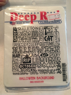 HALLOWEEN BACKGROUND - DEEP RED RUBBER STAMPS