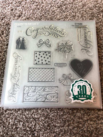 THE HAPPY COUPLE - CLOSE TO MY HEART CLEAR STAMPS