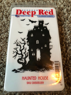 HAUNTED HOUSE - DEEP RED RUBBER STAMPS