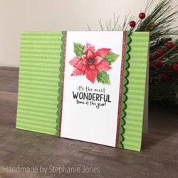 LAYERED POINSETTIAS STAMP SET - Gina Marie Designs