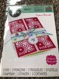 SIZZIX DIE SET THINLETS STEPHANIE BARNARD - HALF CARD PANELS