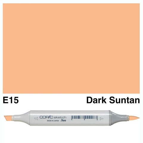 E15 DARK SUNTAN - COPIC SKETCH MARKER