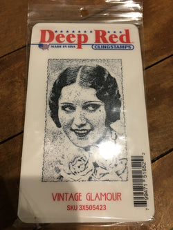 VINTAGE GLAMOUR - DEEP RED RUBBER STAMPS