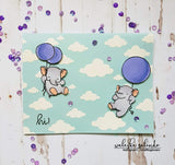 PUFFY CLOUDS 6x6 STENCIL - Gina Marie Designs