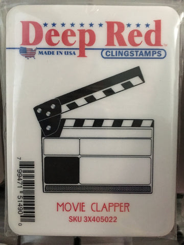 MOVIE CLAPPER - DEEP RED RUBBER STAMPS