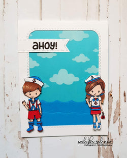 SAILOR KIDS STAMP SET - Gina Marie Designs