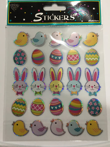 NICOLE METALLIC EASTER ICON STICKERS XL SHEET
