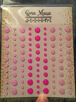 PASSION PINK CLEAR STYLE ENAMEL DOTS - Gina Marie Designs