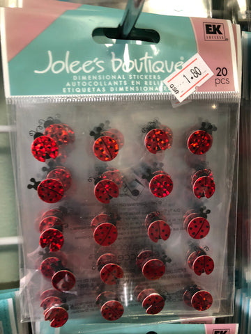 LADY BUG REPEATS - Jolees boutique stickers