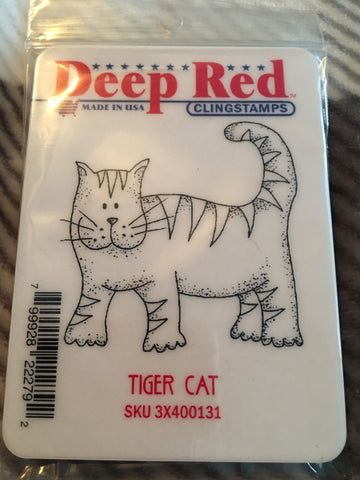 TIGER CAT - DEEP RED RUBBER STAMPS