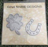 ST PATRICKS HORSESHOE & CLOVER DIE SET - Gina Marie Designs
