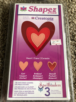 SHAPEZ HEARTS - SPELLBINDERS DIE SET