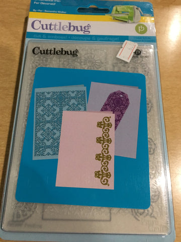ORNAMENTAL IRON - sizzix die and embossing folder combo set