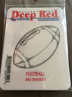 FOOTBALL DEEP RED RUBBER STAMPS