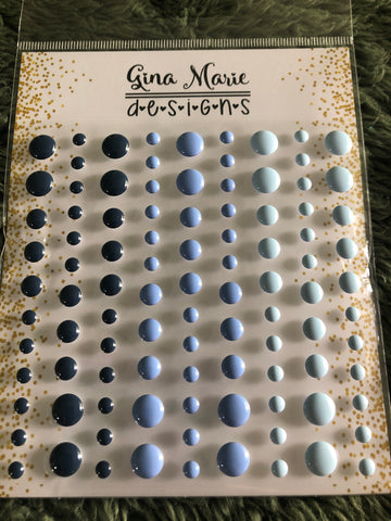 BLUEBERRIES GLOSS STYLE ENAMEL DOTS - Gina Marie Designs