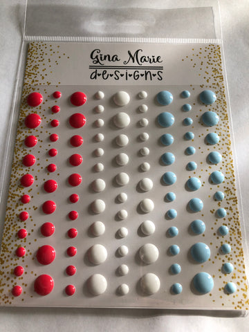 SAILBOAT GLOSS STYLE ENAMEL DOTS - Gina Marie Designs