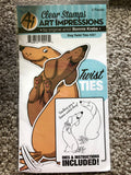 DOG TWIST TIES - CLEAR STAMPS AND DIES ART IMPRESSIONS BONNIE KREBS