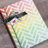 SLANTED BRICKS 6x6 STENCIL - Gina Marie Designs