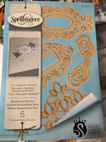 SPELLBINDERS - RENAISSANCE TAG TWO DIE SET