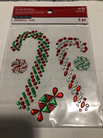 CANDY CANES RHINESTONE STICKERS - RECOLLECTIONS