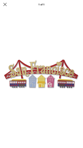 SAN FRANSICO TITLE - Jolee's Boutique Stickers
