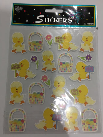 NICOLE EASTER CHICK STICKERS XL SHEET