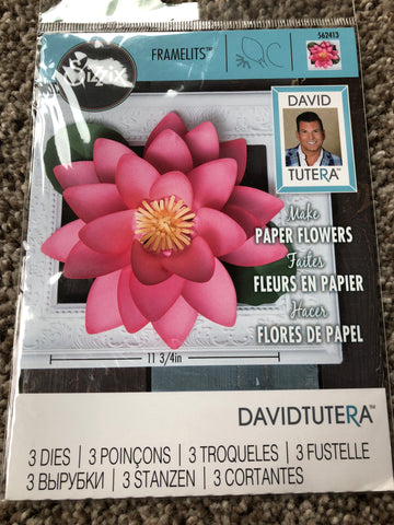 SIZZIX FRAMELITS DIE SET DAVID TUTERA PAPER FLOWERS - LARGE LOTUS