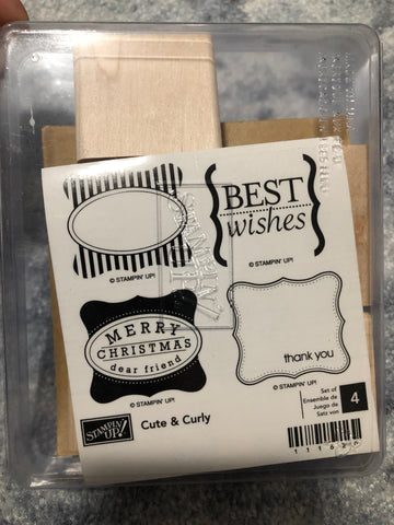CUTE & CURLY - STAMPIN UP STAMP SET