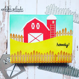PICKET FENCES WITH WOOD GRAIN FINSH DIE SET - Gina Marie Designs