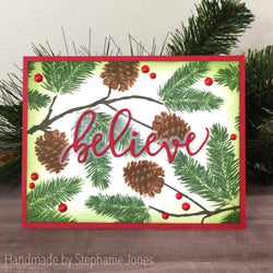 WINTER PINE LAYERED STAMP SET - Gina Marie Designs