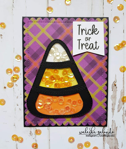 LAYERED STITCHED CANDY CORN DIE SET - Gina Marie Designs