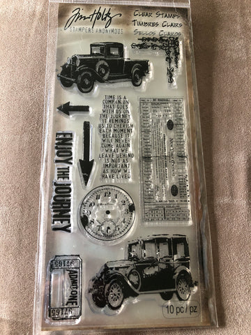 THE JOURNEY TWO OLD CARS - TIM HOLTZ CLEAR STAMPS