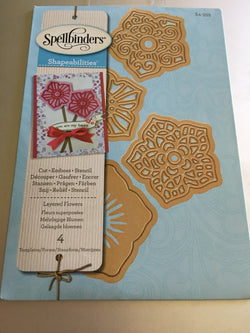 LAYERED FLOWERS - SPELLBINDERS DIE SET