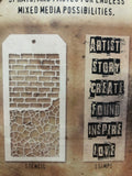 WORDS - TIM HOLTZ CLEAR STAMPS AND STENCIL SET