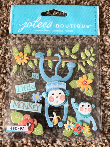 BABY BOY MY LITTLE MONKEY - Jolee's Boutique Stickers